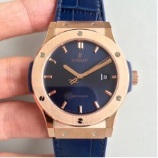 Réplique Hublot Classic Fusion Blue King Gold 511.OX.7180.LR Rose Gold Blue Dial