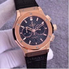 Replica Hublot Classic Fusion Chronograph King Gold 521.OX.1181.LR Rose Gold Carbon Fiber Dial