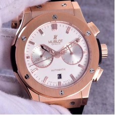 Replica Hublot Classic Fusion Chronograph King Gold Opalin 521.OX.2611.LR Rose Gold Silver Dial