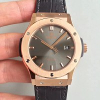 Réplique Hublot Classic Fusion Grey King Gold 511.OX.7081.LR Cadran Gris Or Rose