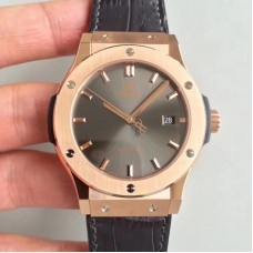 Replica Hublot Classic Fusion Grey King Gold 511.OX.7081.LR Rose Gold Grey Dial