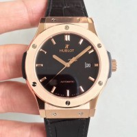 Réplique Hublot Classic Fusion King Gold 511.OX.1181.LR Cadran noir en or rose