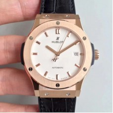 Réplique Hublot Classic Fusion King Gold Opalin 511.OX.2611.LR Cadran blanc en or rose
