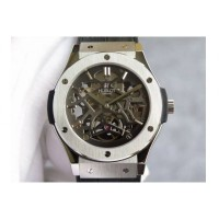 Réplique Hublot Classic Fusion Prototype Rose Gold Black Skeleton Dial Swiss Skeleton