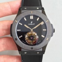 Réplique Hublot Classic Fusion Tourbillon Night Out 505.CS.1270.VR cadran noir en acier inoxydable