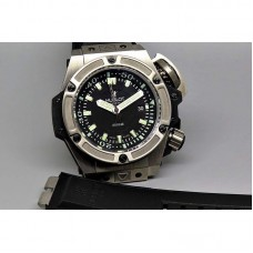 Réplique Hublot King Power Oceanographic 4000 Titanium Black Dial