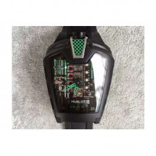 Replica Hublot LaFerrari MP-05 Black PVD Green Skeleton Dial