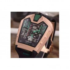 Replica Hublot LaFerrari MP-05 Rose Gold Green Skeleton Dial