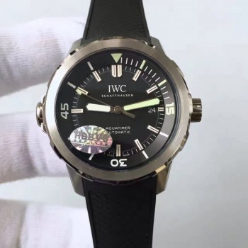 Replica IWC Aquatimer Automatic IW329001 V6 Stainless Steel Black Dial