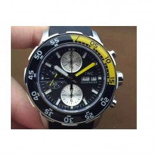 Replica IWC Aquatimer IW3767-02 Stainless Steel Black Dial