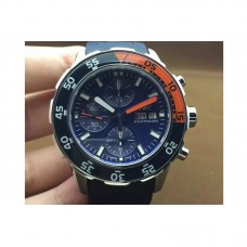 Replica IWC Aquatimer IW3767-04 Chronograph Stainless Steel Blue Dial