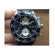 Replica IWC Aquatimer IW3767 Stainless Steel Black Dial