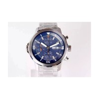 Replica IWC Aquatimer IW376802 Chronograph Stainless Steel Blue Dial