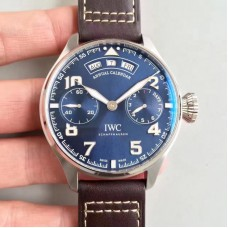 Replica IWC Big Pilot Annual Calendar Le Petit Prince IW502703 Stainless Steel Blue Dial
