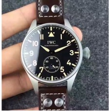 Replica IWC Big Pilot Heritage IW510301 Stainless Steel Black Dial