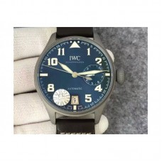 Replica IWC Big Pilot IW5009 Stainless Steel Blasted Blue Dial Stainless Steel Blasted Anthracite Dial