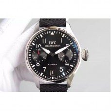 Replica IWC Big Pilot IW500910 Power Reserve Stainless Steel Black Dial