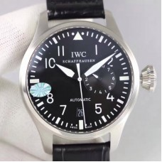 Replica IWC Big Pilot IW500912 2017 Stainless Steel Black Red Dial