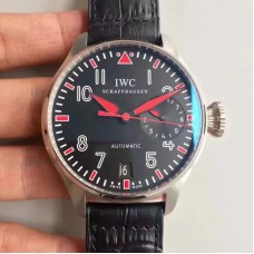 Replica IWC Big Pilot Muhammad Ali 500433 2017 Stainless Steel Black Red Dial