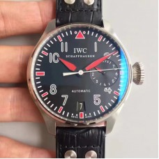 Replica IWC Big Pilot Muhammad Ali IW500433 2017 Stainless Steel Black Red Dial