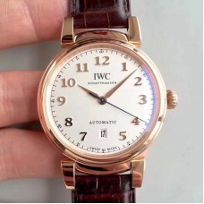 Replica IWC Da Vinci Automatic IW356601 TW Rose Gold White Dial