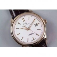 Replica IWC Ingenieur St Laurens Rose Gold White Dial