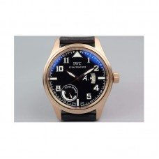 Replica IWC Pilot Antoine De Saint Expert IW320103 42MM Power Reserve Rose Gold Black Dial