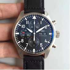 Replica IWC Pilot Chronograph Edition Le Petit Prince IW377714 Stainless Steel Black Dial