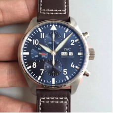 Replica IWC Pilot Chronograph Edition Le Petit Prince IW377714 Stainless Steel Blue Dial