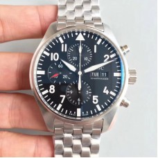 Replica IWC Pilot Chronograph Edition Le Petit Prince IW377717 Stainless Steel Black Dial