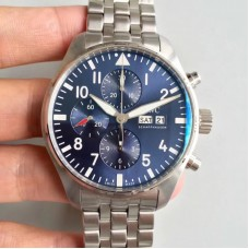Replica IWC Pilot Chronograph Edition Le Petit Prince IW377717 Stainless Steel Blue Dial