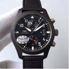 Replica IWC Pilot Chronograph Top Gun IW388007 Ceramic Black Dial