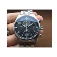 Réplique IWC Pilot IW3878 Chronographe Cadran Noir En Acier Inoxydable