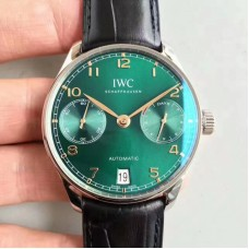 Replica IWC Portugieser 7 Days IW500708 Stainless Steel Green Dial