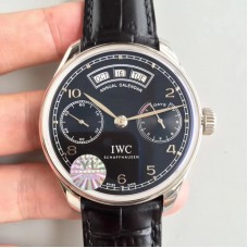 Replica IWC Portugieser Annual Calendar IW503502 Stainless Steel Black Dial