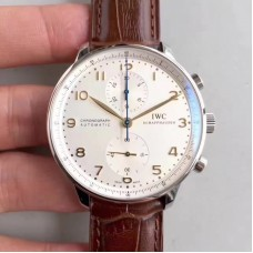 Replica IWC Portugieser Chronograph IW371445 Stainless Steel White Dial