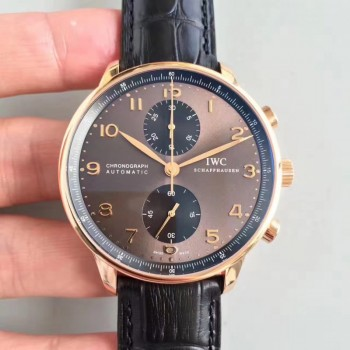 Réplique IWC Portugieser Chronographe IW371482 Cadran Anthracite Or Rose