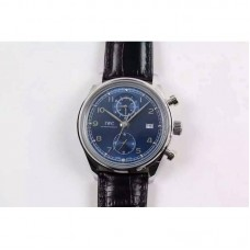 Replica IWC Portuguese Chronograph Classic IW390403 Stainless Steel Blue Dial
