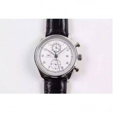 Replica IWC Portuguese Chronograph Classic IW390403 Stainless Steel White Dial