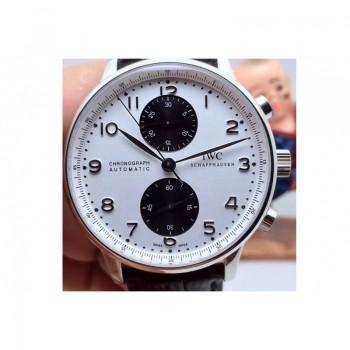Réplique IWC Portuguese IW3714 Chronographe Acier Inoxydable Cadran Noir