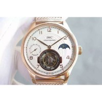 Réplique IWC Portuguese Regulateur Tourbillon Cadran Blanc - Or Rose