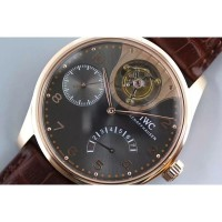 Réplique IWC Portuguese Tourbillon Mystery IW504207 Cadran Anthracite Or Rose