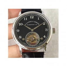 Replica A. Lange & Sohne 1815 Tourbillon 730.025 Stainless Steel Black Dial