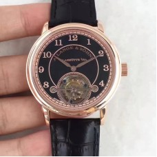 Replica A. Lange & Sohne 1815 Tourbillon 730.032 Rose Gold Black Dial