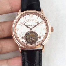 Réplique A. Lange & Sohne 1815 Tourbillon 730.032 cadran blanc en or rose