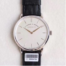 Replica A. Lange & Sohne Saxonia Thin 211.026 Stainless Steel White Dial