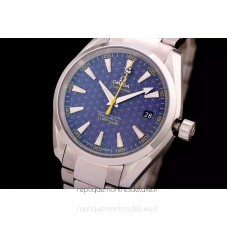 Replica Omega Aqua Terra James Bond 41MM Stainless Steel Blue Dial