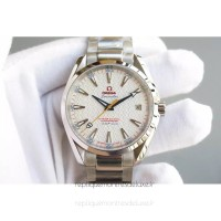 Réplique Omega Aqua Terra James Bond 41MM Acier inoxydable Blanc Dial