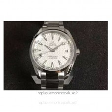 Replica Omega Aqua Terra James Bond 41MM Stainless Steel White Textured Dial
