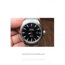 Replica Omega Aqua Terra Lady 34MM Stainless Steel Black Dial